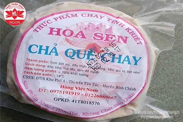 Thực Phẩm Chay Chả Quế Chay (Hoa Sen) - Thực Phẩm Chay Ngon